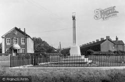 Pontyclun, Cenotaph And Masonic Hall c.1955
