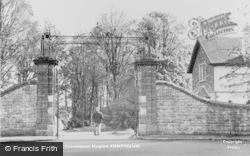 Pontyclun, Entrance To Talygarn Convalescent Home c.1955