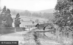 Pontymister, Canal Bridge And Moriah Hill c.1955