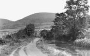 Pontymister, Twm Barlwm from Canal c1955