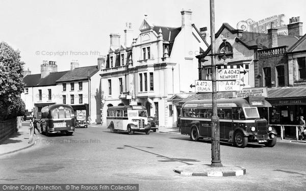Photo of Pontypool, Clarence Square c.1955