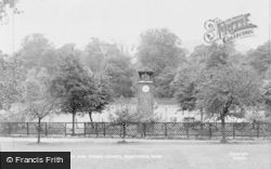 Pontypool, Park, The Clock And Tennis Courts c.1955