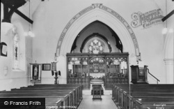 Pontypool, St James Church Interior c.1960