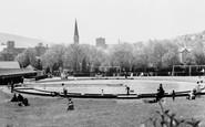 Pontypridd, Paddling Pool, Ynysangharad Park c1960