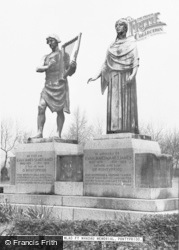 Pontypridd, The Hen Wlad Fy Nhadau Memorial c.1955