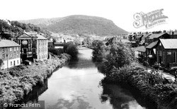 Pontypridd, View From Old Bridge c.1960