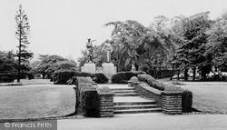 Pontypridd, Ynysangharad Park, The Memorial  c.1960