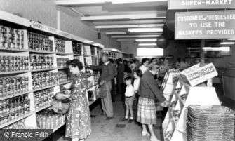 Poole, Rockley Park Supermarket, Rockley Sands c1960