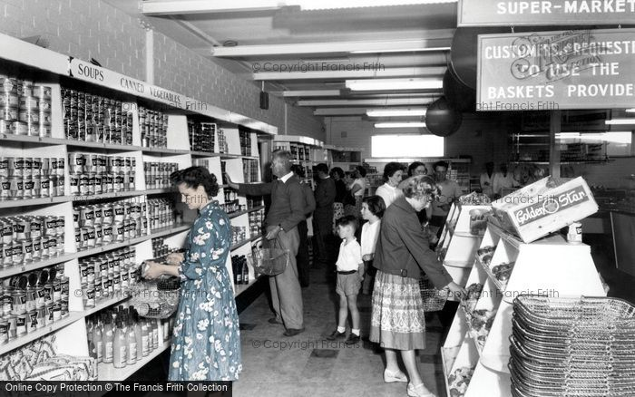 Photo of Poole, Rockley Park Supermarket, Rockley Sands c.1960