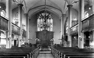 Poole, St James's Church Interior 1908