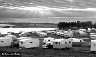 Poole, Sunset on Bay Hollow, Rockley Sands c1960