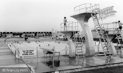Poole, The Tropicana Pool, Rockley Sands c.1965