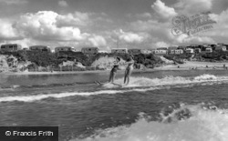 Water Skiing At Rockley Sands c.1960, Poole
