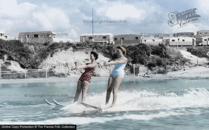 Poole, Water Skiing At Rockley Sands c.1960