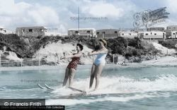 Poole, Water Skiing at Rockley Sands c1960