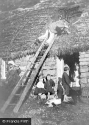 Poolewe, Repairing The Thatch c.1890