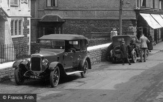 Porlock, Cars in the High Street 1927