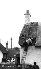 Porlock, Thatching c1950