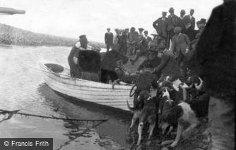 Porlock Weir, Landing the Fish 1907