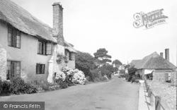 Porlock Weir, Old Cottages 1935