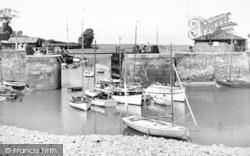 Porlock Weir, The Harbour And Sluice Gates c.1955