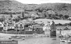 Porlock Weir, The Harbour c.1955