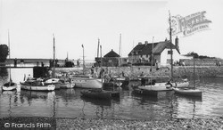 Porlock Weir, The Harbour c.1965