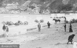 Bathing Machines 1897, Port Erin