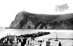 Bradda Head And Breakwater 1894, Port Erin
