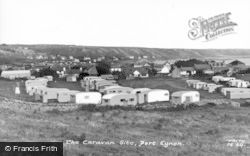 Port Eynon, Caravan Site c.1960