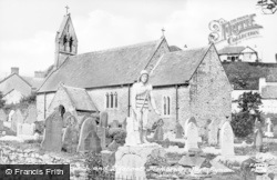 Port Eynon, Church And Lifeboat Memorial c.1950