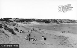 Port Eynon, The Beach c.1960