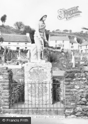 Port Eynon, The Lifeboat Memorial c.1955