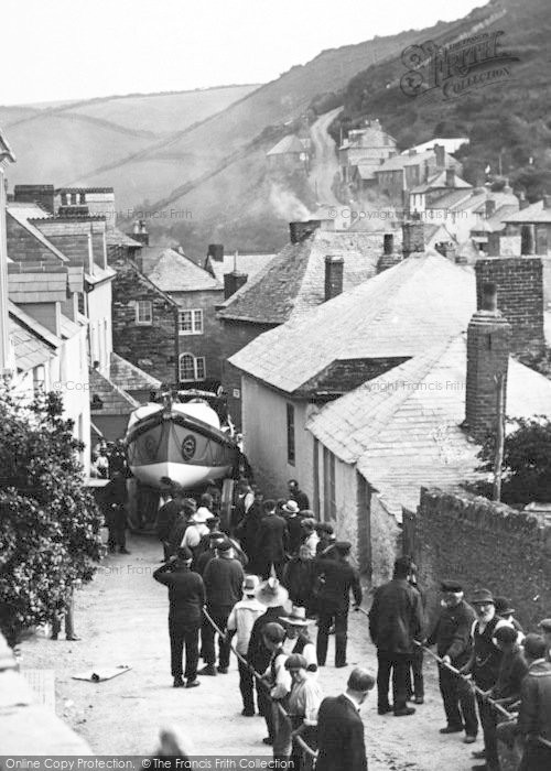 Photo of Port Isaac, Hauling The Lifeboat c.1935