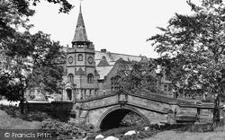 Port Sunlight, Dell Bridge And The Lyceum c.1955