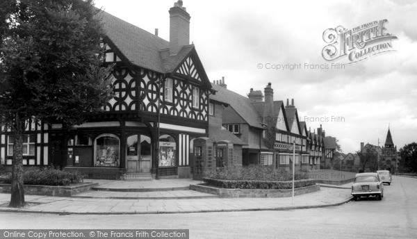 Port Sunlight, Post Office Corner c1960