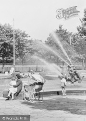 Port Sunlight, Sitting By The Fountain c.1955