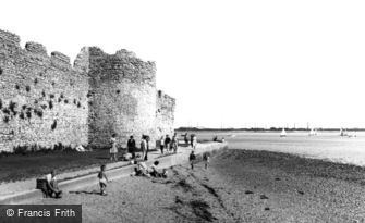 Portchester, Castle, the Outer Walls c1960