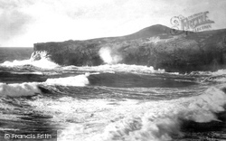 Blowing Hole And Porth Island 1887, Porth