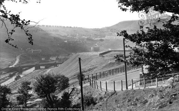 Porth, from Llyncelyn c1960
