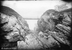 Norwegian Rocks Ravine And Bridge 1887, Porth