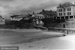 Post Office And Beach Wall c.1955, Porth