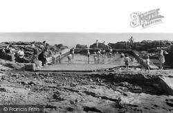 Porthcawl, Children's Paddling Pool c.1955