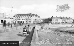 Porthcawl, The Promenade From Seabank Hotel c.1955