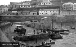 Porthleven, A Bp Lorry On The Harbour 1928
