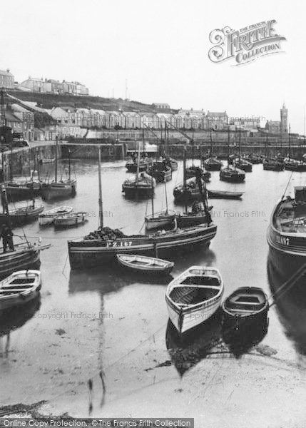 Photo of Porthleven, Boats In The Harbour 1924