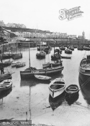 Porthleven, Boats In The Harbour 1924