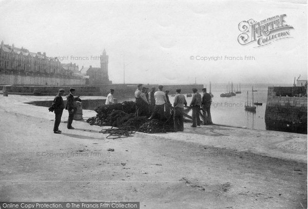 Photo of Porthleven, Fishermen Hauling Up The Seine 1907