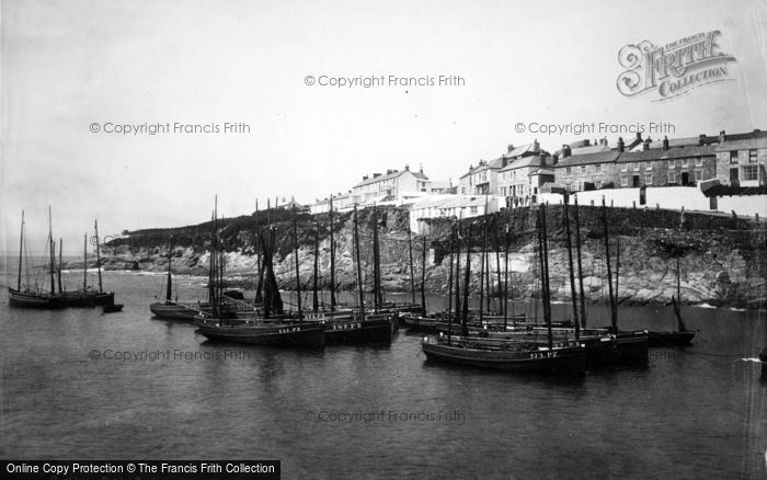 Photo of Porthleven, Fishing Boats 1890