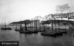 Porthleven, Fishing Boats 1890